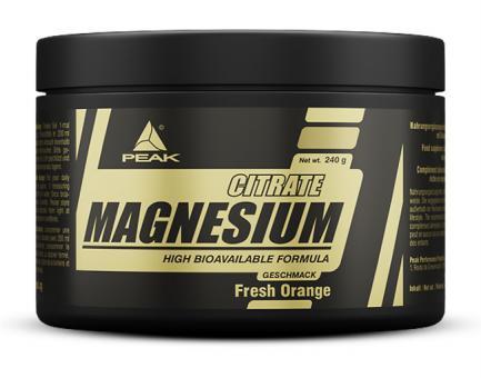 Peak - Magnesium Citrat - 240 g Fresh Orange