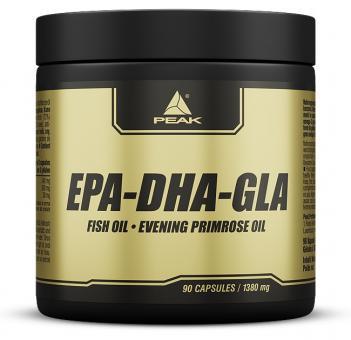 Peak - EPA - DHA - GLA - 90 Kapseln / Omega 3 / 124,2 g