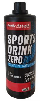 Body Attack Sports Drink Zero - 1000 ml Cherry
