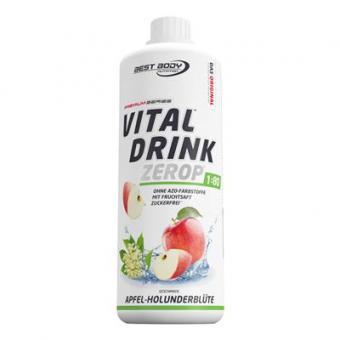 Best Body Nutrition Vital Drink - 1000ml Apfel-Holunderblüte