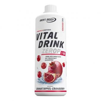 Best Body Nutrition Vital Drink - 1000ml Granatapfel-Cranberry