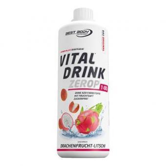 Best Body Nutrition Vital Drink - 1000ml Drachenfrucht-Litschi