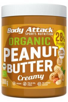 Body Attack Organic Peanut Butter - 1000g Creamy