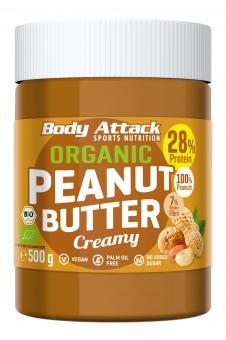 Body Attack Organic Peanut Butter - 500g Creamy