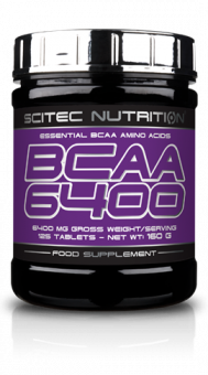 Scitec Nutrition BCAA 6400 Essentielle Aminosäuren 160g - 125 Tab.